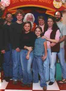 The Williams clan and Santa.