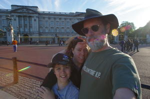 Robert, Sarah, David, Buckingham Palace